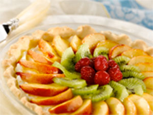 Fresh Fruit Tart with Shortbread Crust