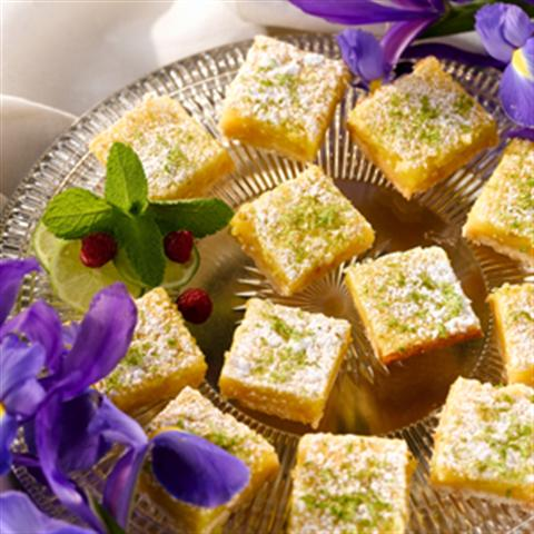 Refreshing Key Lime and Macadamia Bars