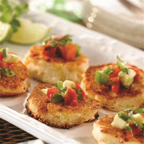 Reinvent Corn Cakes as StylishAppetizers
