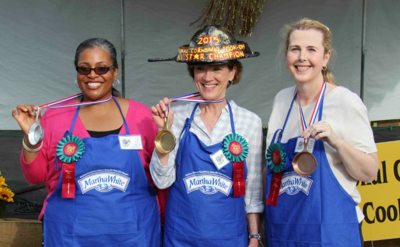 Karen S. Earns the Martha White®/Lodge® Cast Iron Skillet Crown at  19th Annual National CornbreadCook-Off