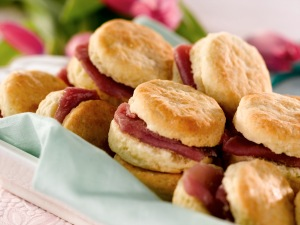 Sour Cream Chive Biscuits with Country Ham