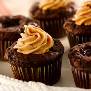 CMA Chocolate Chocolate Peanut Butter Cupcakes