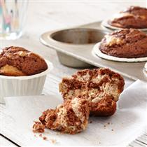 banana chocolate hazlenut muffins
