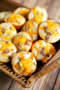 cheesy sausage cornbread bites copy