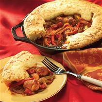 country italian sausage pie