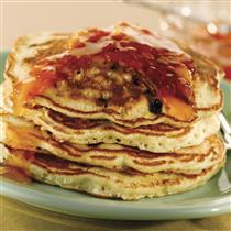 fruit muffin mix pancakes