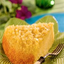 pineapple updside-down corn meal cake
