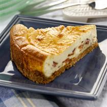 savory apple cinnamon bacon breakfast cheesecake