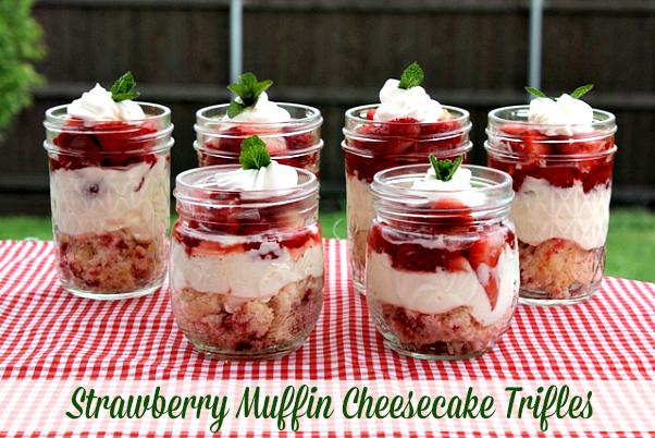 Strawberry Muffin CheesecakeTrifles