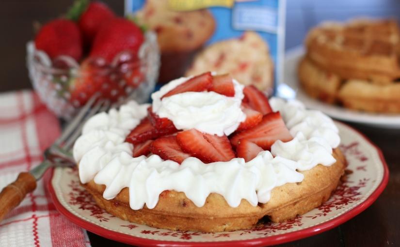 Strawberry Muffin Waffles