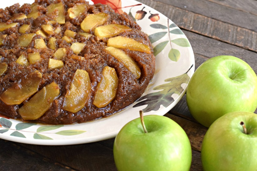 Upside Down Apple Skillet Cake